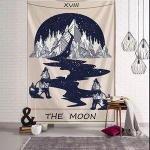 🆕 XL The Moon Tarot Card Tapestry